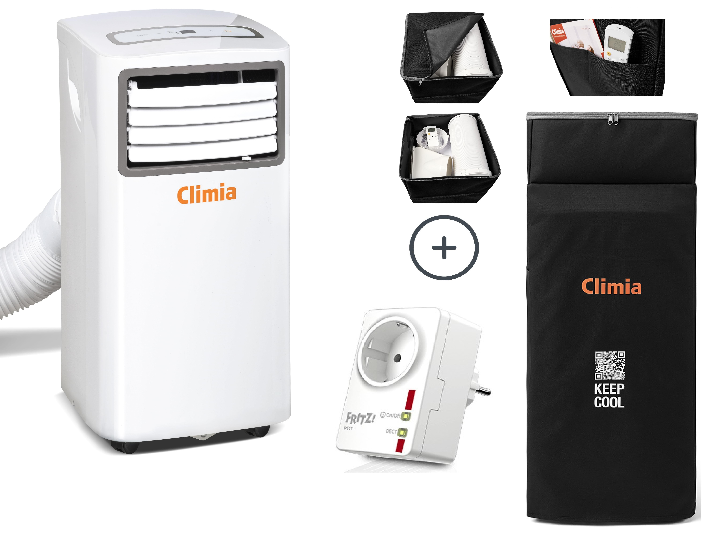 Climia CMK 2600 Sparpaket #3 - Klimagerät inkl. Aufbewahrungstasche & AVM  FRITZ!DECT 200 smart Steckdose