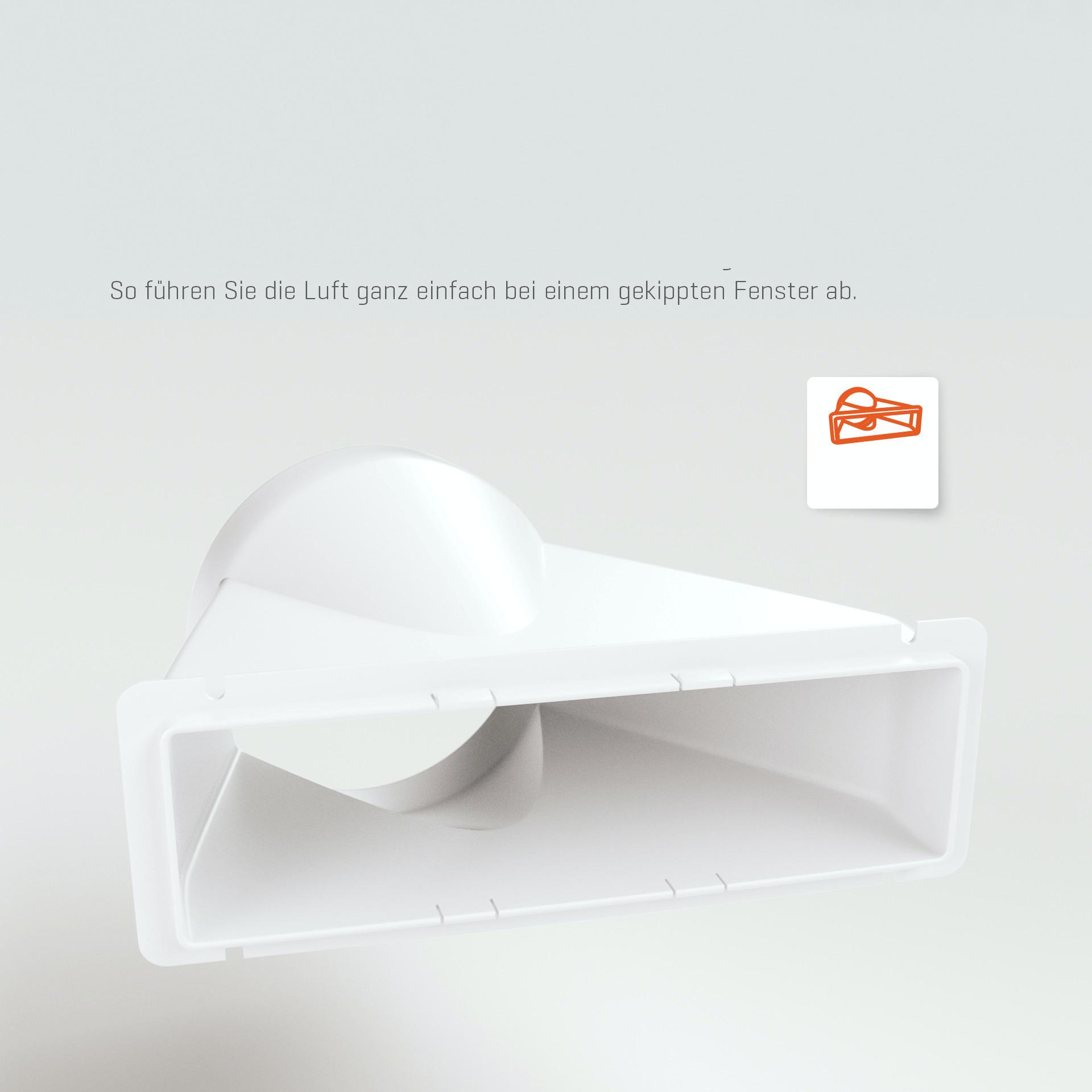 Climia CMK 2600 Fensterdüse für Klimaanlage - Abluftdüse Klimagerät über Fenster