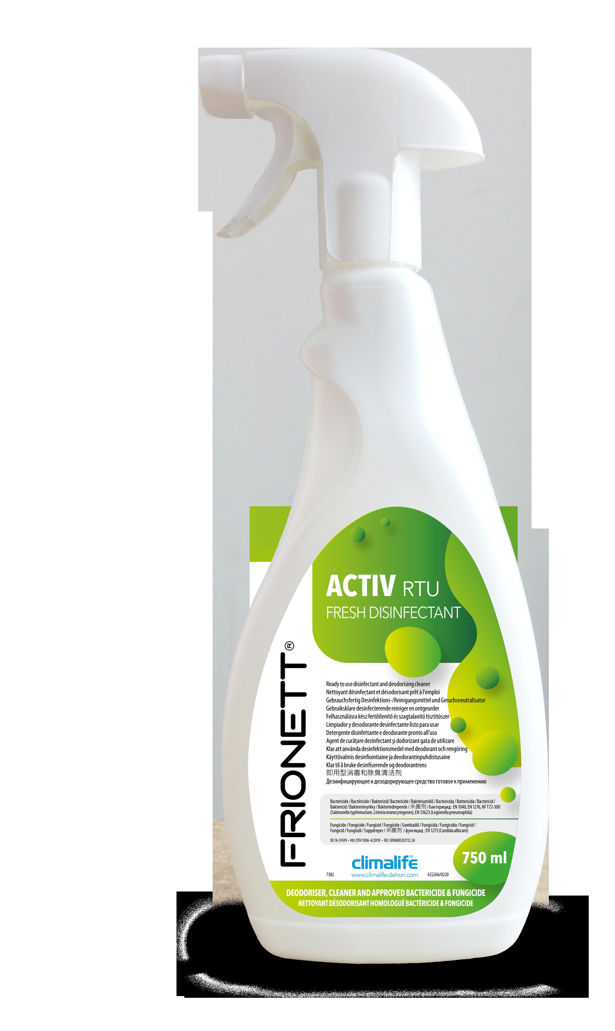 Frionett® Activ - Reinigungsmittel für Klimaanlagen, Klimageräte, Luftentfeuchter, Bautrockner
