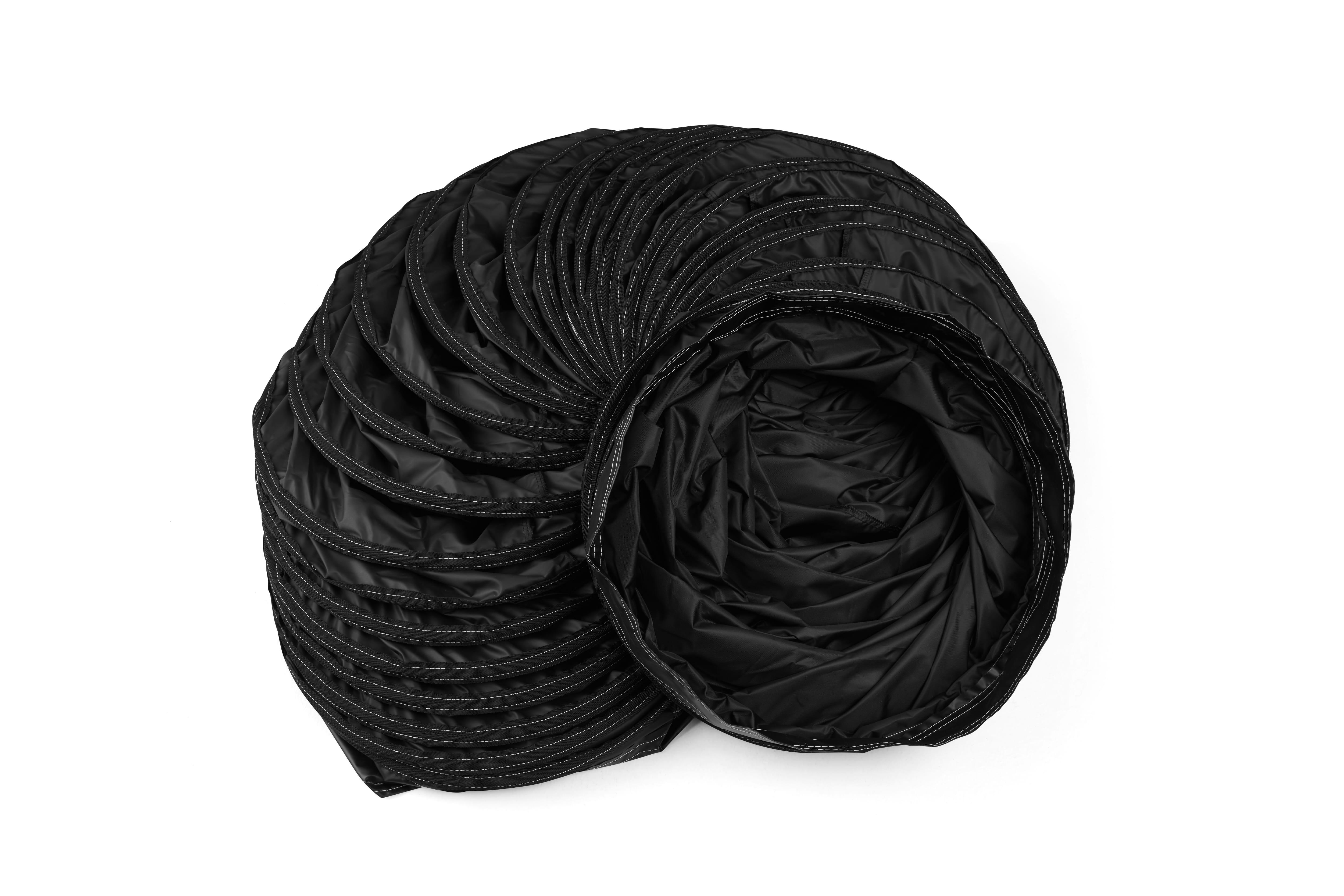 Warmluftschlauch aus PVC-freiem Spezialgewebe - Länge 7,6m Farbe gelb/schwarz - Beständig von -45°C bis ca. +145°C