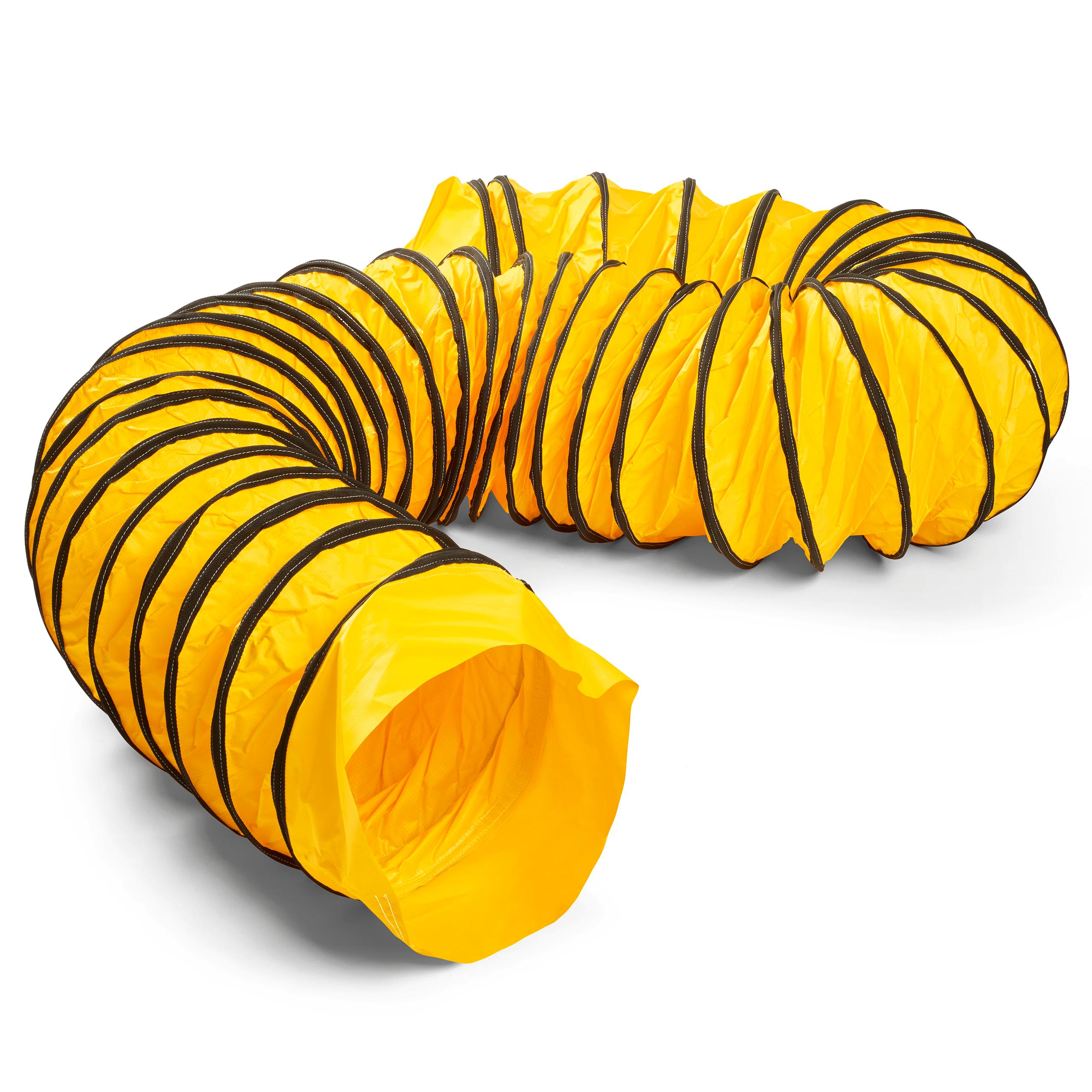 Warmluftschlauch aus beidseitig PVC-beschichtetem Polyestergewebe - Länge 7,6m - Beständig bis 100°C